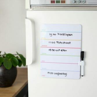 Weekly Dry Erase Board op koelkast