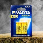 Varta AAA batterijen in blister verpakking