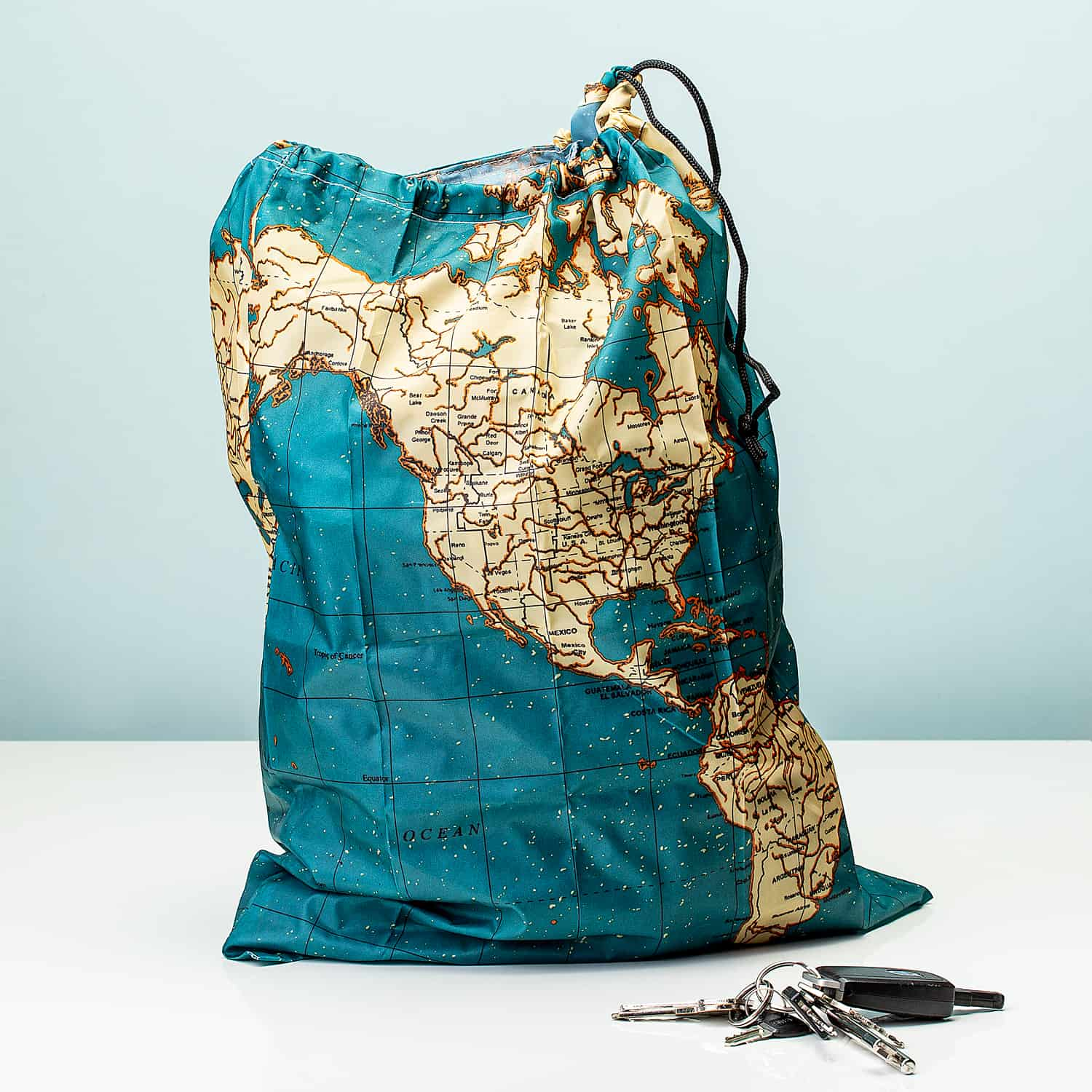 Travel Laundry Bag - Maps - Kikkerland