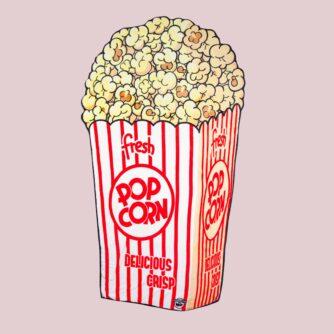 Popcorn handdoek