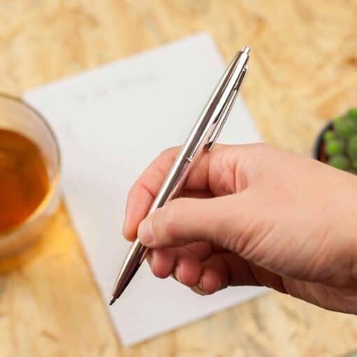 Retro pennen (set van 3) zilver