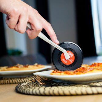 Platenspeler pizzasnijder