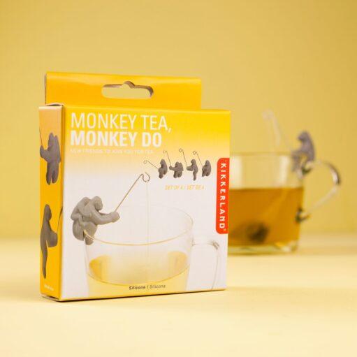Aap theezakjeshouder (set van 4) verpakking