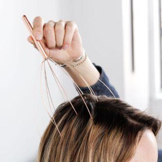 Hoofdmassage spin koper hoofd