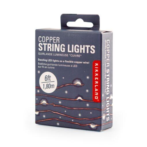 Koperen fairy lights in verpakking
