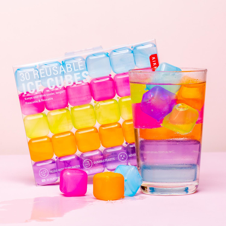 Plastic Ijsblokjes (set Van 30) - Kleur
