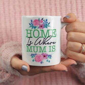 Gepersonaliseerde mok home is where mum is