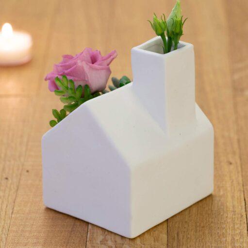 huis bloempotje achterkant