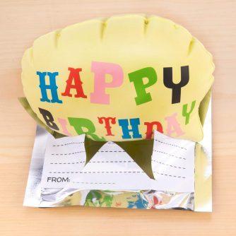 Happy birthday pop balloon happy
