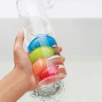 bottle scrubbies in fles