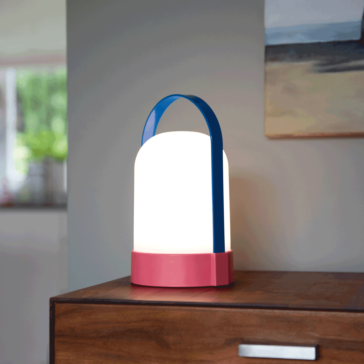 URI LED-lamp Met Handvat - Roze/blauw - Remember