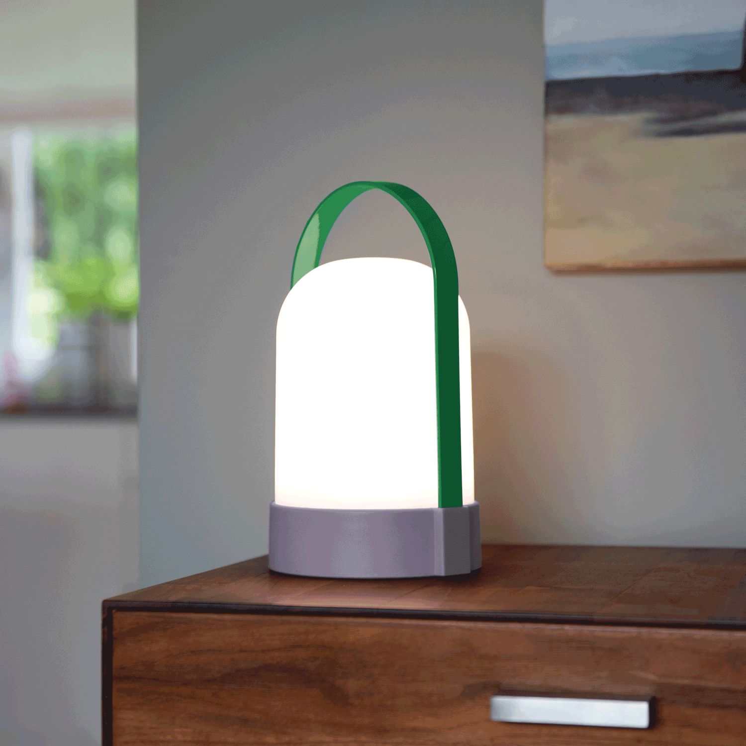 URI LED-lamp Met Handvat - Lila/groen - Remember