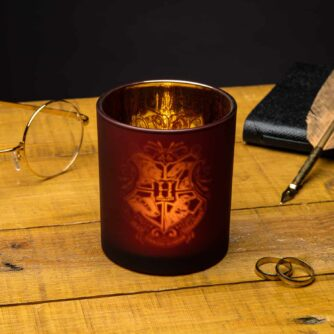 hogwarts glass candle holder