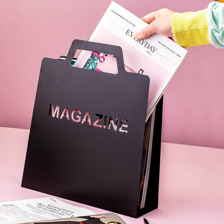 Tijdschriftenrek - Mat Zwart