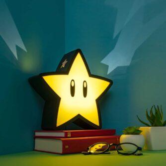 Super Mario Super Star lamp met projectie