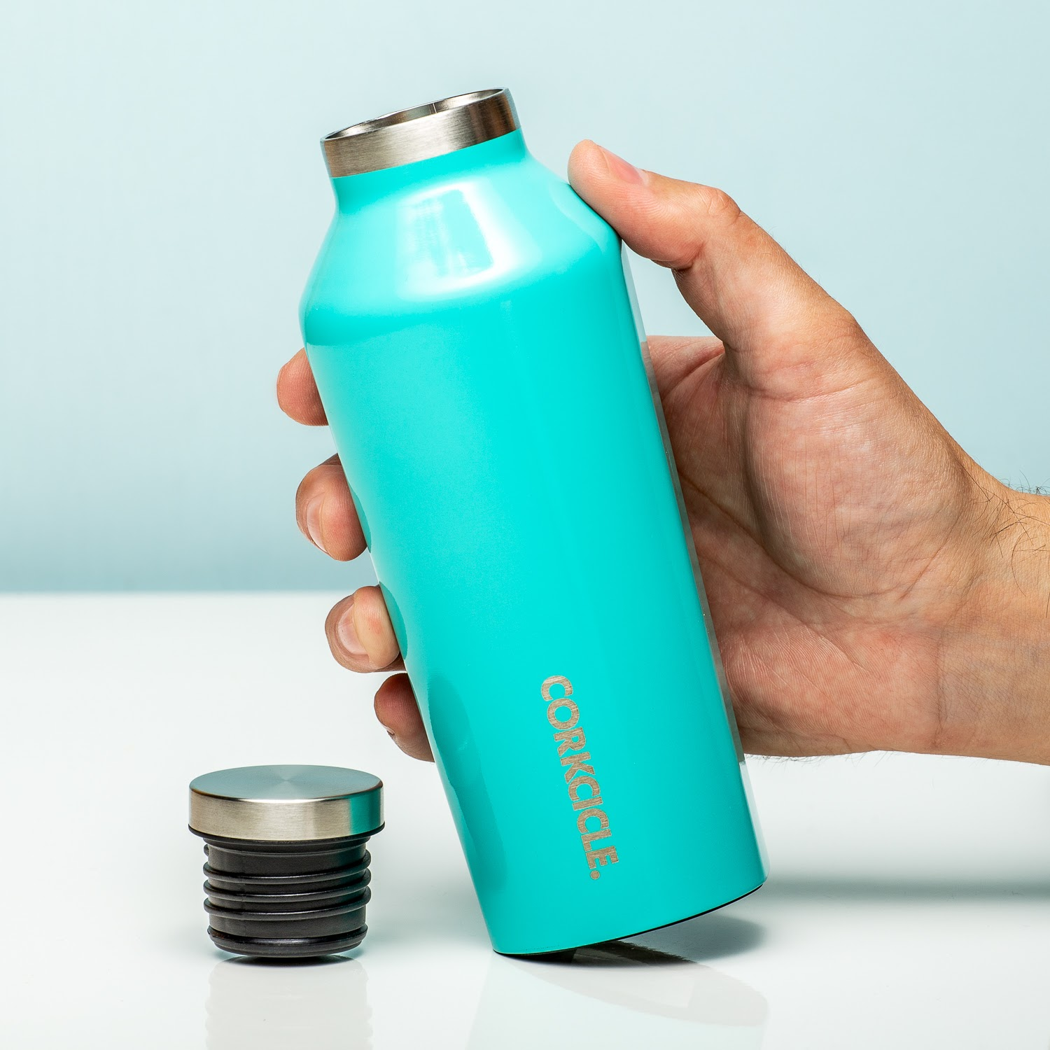 Canteen Thermosfles 270 Ml - Glanzend Turquoise
