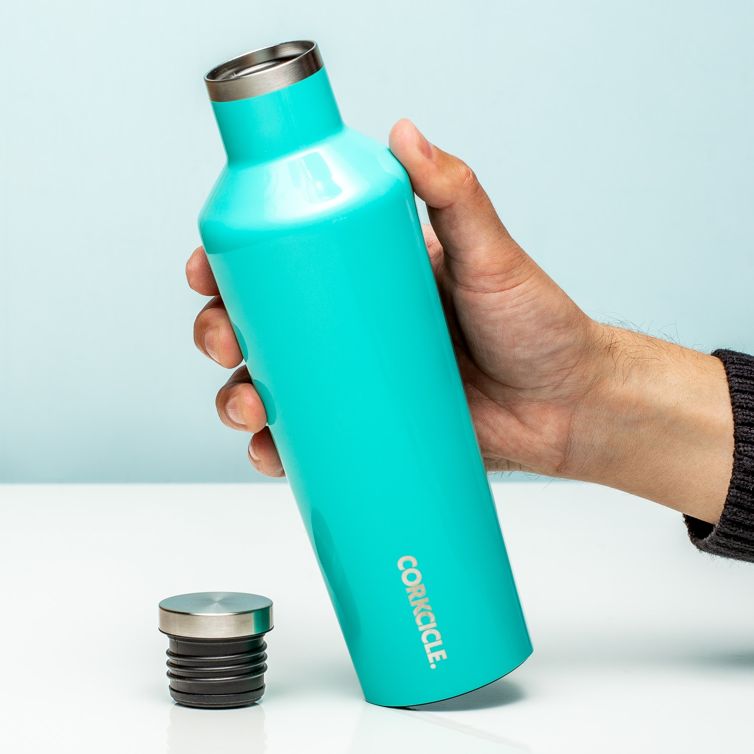 Canteen Thermosfles 475 Ml - Glanzend Turquoise
