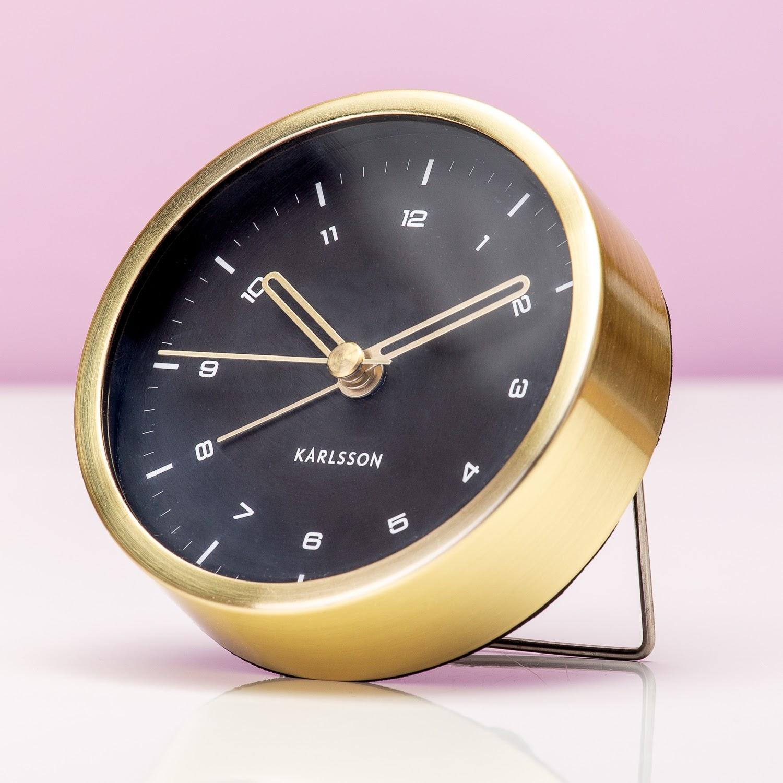 Wekker Tinge - Goud/zwart
