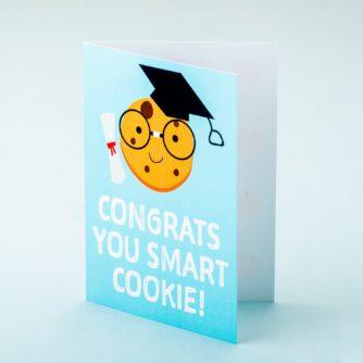 Wenskaart Congrats You Smart Cookie!