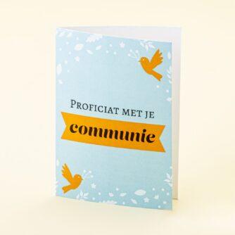 Wenskaart Communie