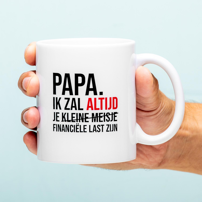 Financiële Last Vaderdag Mok - Kleine Meisje