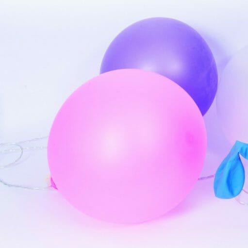 Ballon lichtslinger roze