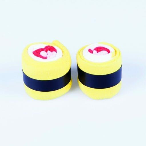 Maki sokken geel/zwart