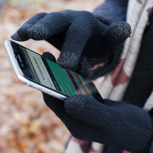 touchscreen smartphone handschoenen gebruik