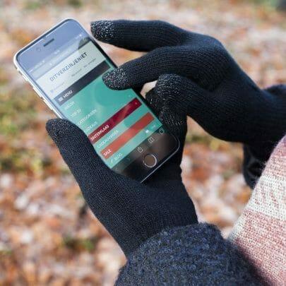 touchscreen smartphone handschoenen