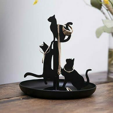 Black Cats Jewelry Stand - Kikkerland