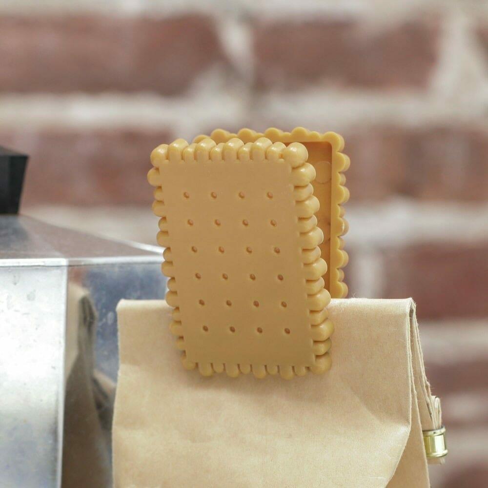 Biscuit Bag Clip (set Van 4) - Kikkerland
