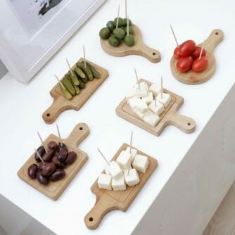 houten serveerplankjes snijplankjes