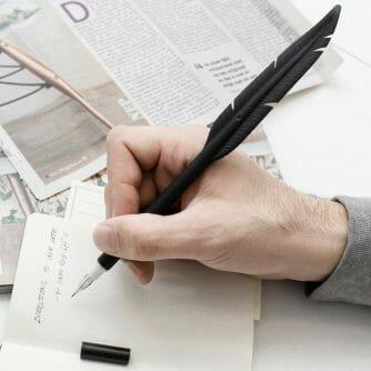 pen met veer
