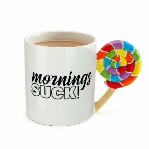 Mornings Suck beker voorkant