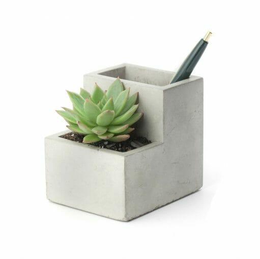 Concrete Desktop Planter voorkant
