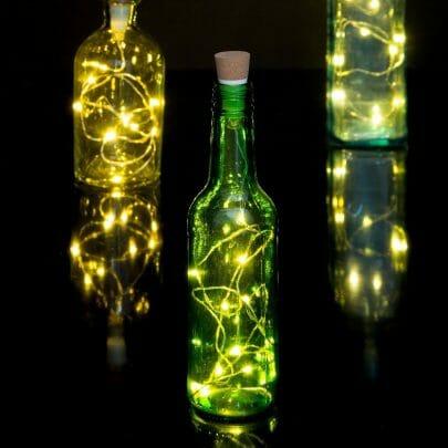 fairy lights fles lamp