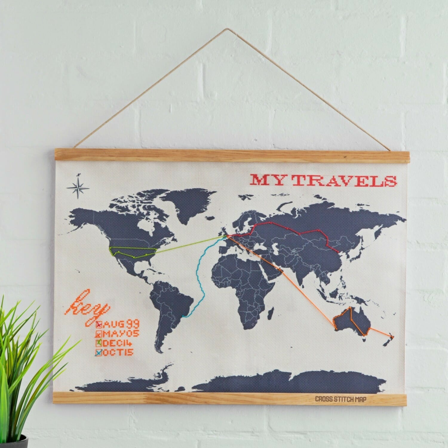 Cross Stitch Map