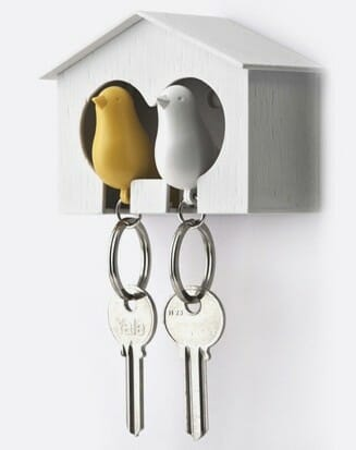 Sparrow Keyring The Couple wit/geel